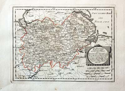 Maps, Atlases & Globes Art Prints Kind-Hearted Antique County Map Of Hertfordshire By John Cary Original Outline Colour 1793