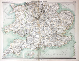 Map Of Southern England And Wales.Antique Maps Of The British Isles Richard Nicholson