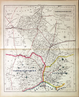 Cambridgeshire Fox Hunting Map