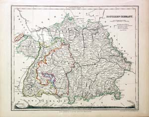 Antique Maps Of Germany Richard Nicholson Of Chester