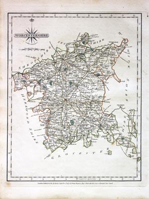 Antique Maps Of Worcestershire England Richard Nicholson