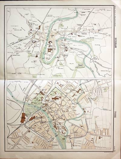 Antique Maps Of County Durham England Richard Nicholson