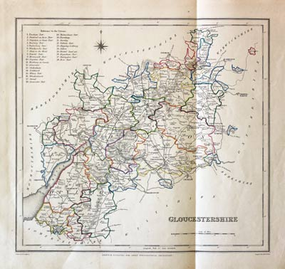 Map Of England Gloucestershire.Antique Maps Of Gloucestershire England Richard Nicholson
