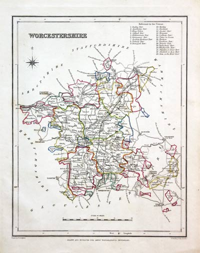 Seats Canals Polling Places 1845 Antiques Bedfordshire County Map By Archer & Dugdale Maps, Atlases & Globes