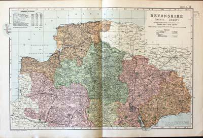 Antique Maps of Devonshire, England - Richard Nicholson