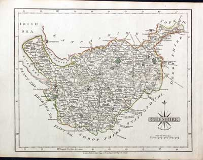 Antiques Original Outline Colour 1793 Kind-Hearted Antique County Map Of Hertfordshire By John Cary