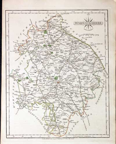 Kind-Hearted Antique County Map Of Hertfordshire By John Cary Art Prints Original Outline Colour 1793