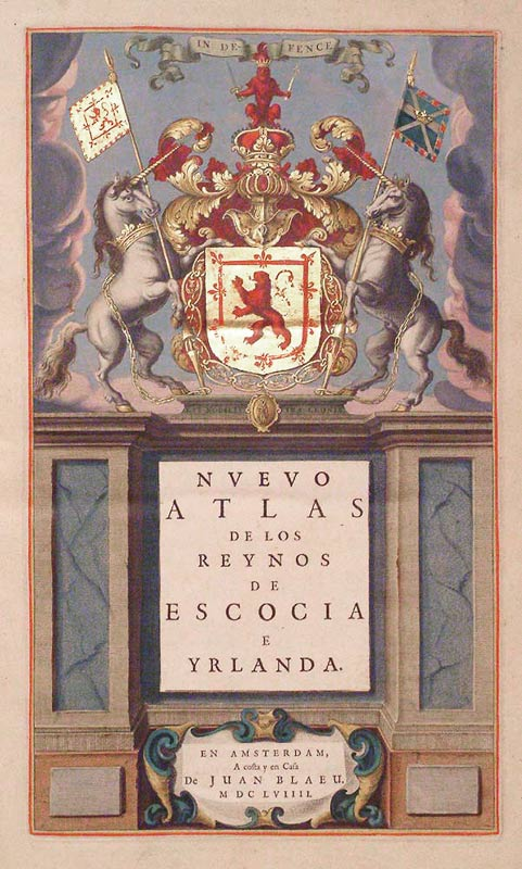 Blaeu Atlas of Scotland Frontispeice