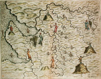 Map of Cheshire by Michael Drayton
