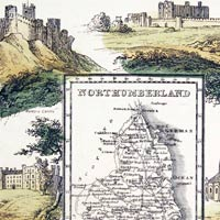 Northumberland map