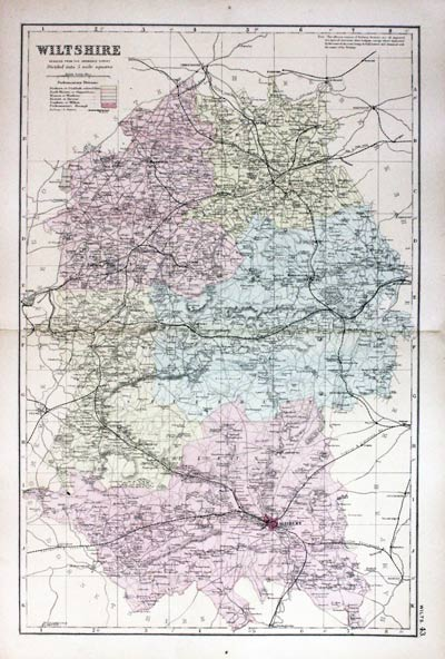 Map Of England 850.Antique Maps Of Wiltshire England Richard Nicholson