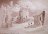 Watercolour of Carnarvon Castle