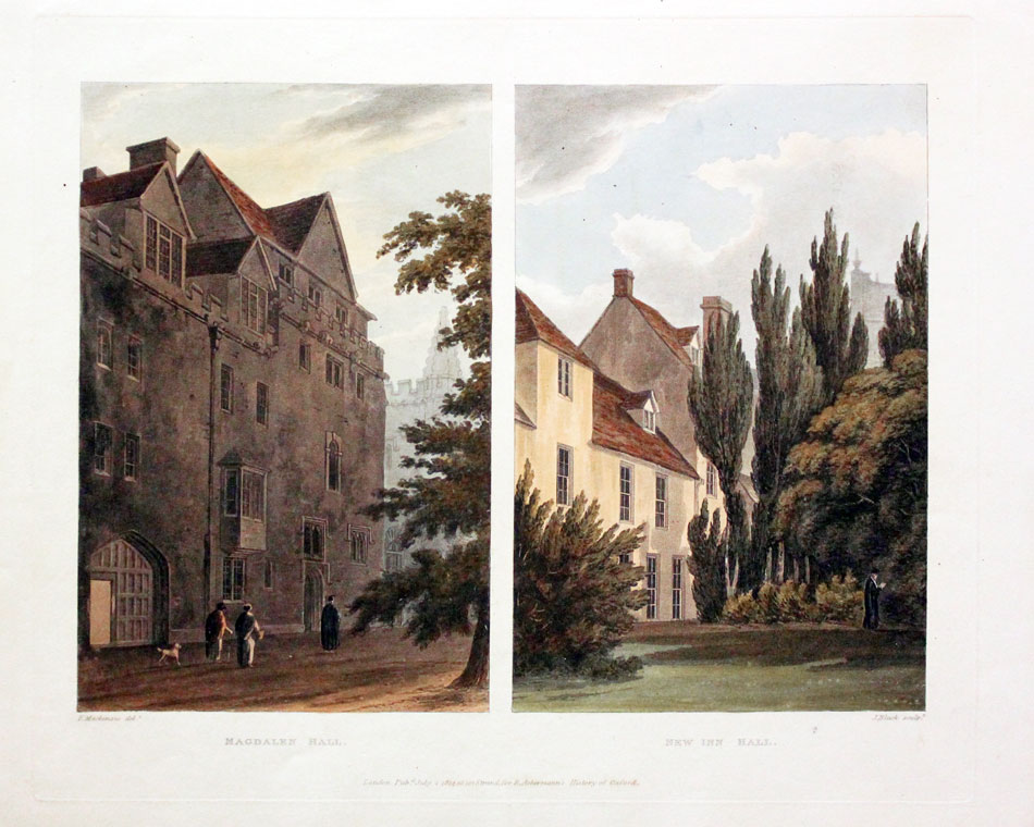 Magdelen Hall / New Inn Hall, Mackenzie/Bluck, c.1814