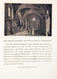 Abbot's Kitchen at Netley Abbey, Hampshire