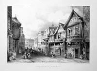 Northgate Street, Chester 1845