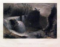 Trenton Falls, View down the Ravine