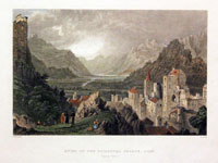 Ruins of the Episcopal Palace, Sion (Canton Valais)