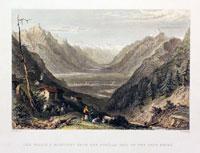 Valais & Martigny from the Forclas, Pass of the Tete Noir
