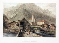 Village of Splugen Switzerland