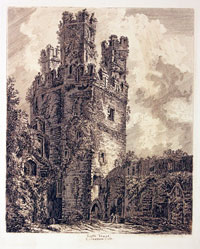 Engraving of Caernarvon Castle