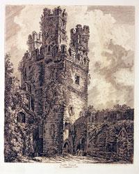 Engraving of Caernarvon Castle