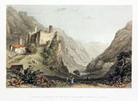 Castle and Valley of Misocco looking towards Soazea