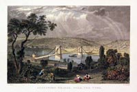 Scotswood Bridge, over the Tyne 1830