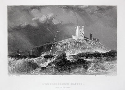 Dunstanborough Castle, J. D. Harding, c.1840
