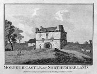 Morpeth Castle, J. Roberts, 1786