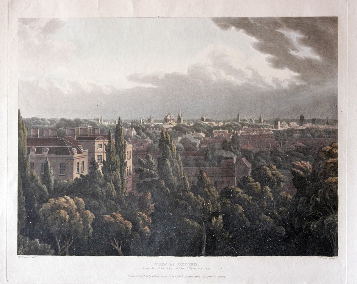 View of Oxford, W. Turner / J. Bluck, c.1814