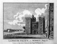 Lambeth Palace in Surrey