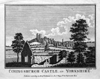 Coningsburgh Castle in Yorkshire