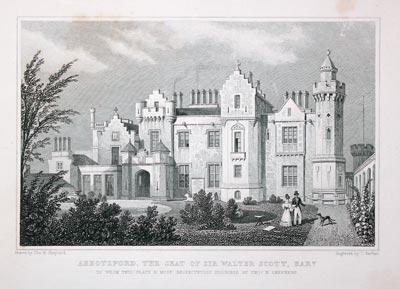 Abbotsford, the Seat of Sir Walter Scott,