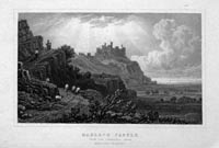 Harlech Castle from Tremadoc Road, Henry Gastineau
